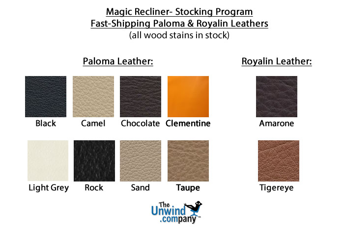 Stocked Paloma and Royalin leather colors for the Magic